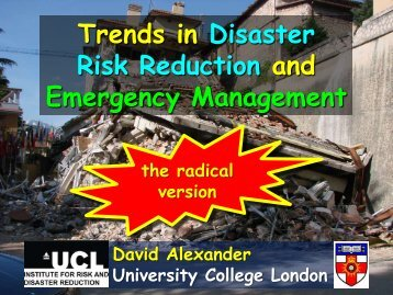 Trends in Disaster Risk Reduction and Emergency Management - NGI