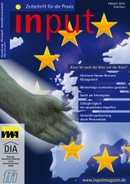 input - Zeitschrift für die Praxis Ausgabe 01/2010 - Alumni Immo ...