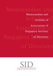 Memorandum and Articles of Association of Singapore Institute of ...