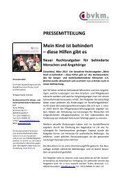Pressemitteilung BVKM 2013 - Einzigartig-eigenartig e.V.