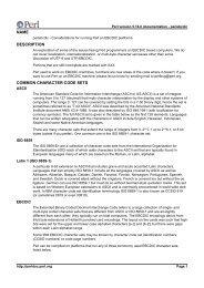 name description common character code sets - Perl Documentation ...