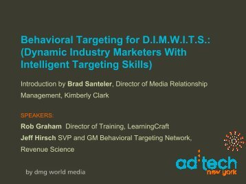Behavioral Targeting for D.I.M.W.I.T.S.: (Dynamic Industry Marketers ...