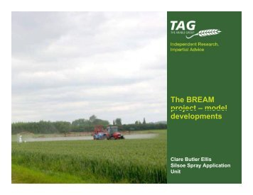 The BREAM project - The Pesticide Stewardship Alliance TPSA