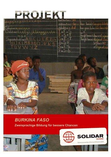 BURKINA FASO - Solidar Suisse