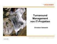 Turnaround Management von IT-Projekten