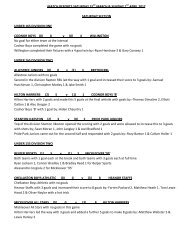 match reports saturday 31st march & sunday 1st april 2012 saturday ...