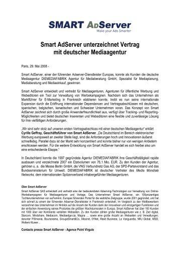 Smart Adserver unterzeichnet Vertrag mit deutscher Mediaagentur