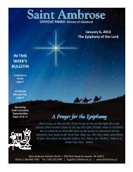 Jan 6 2013 Web - Saint Ambrose Parish