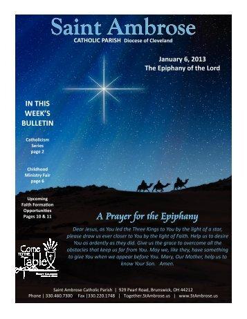 Jan 6 2013 Web - Saint Ambrose Parish