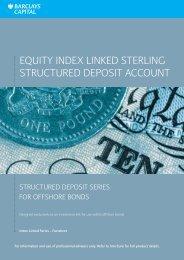 CS1101091 V04 Equity Index Linked Sterling ... - Adviserzone