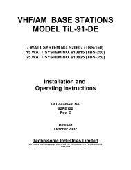 TBS-150/250/350 - Dallas Avionics, Inc.