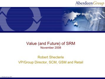 Value of Supplier Relationship Management (SRM) - The APICS ...
