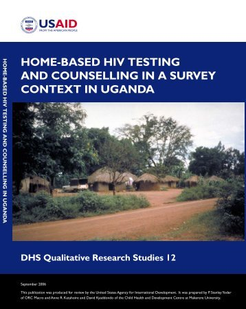 Home-Based HIV Testing and Counselling in a ... - Measure DHS