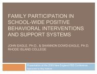 Family Participation in School-wide Behavioral ... - May Institute