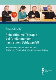 Rehabilitative Therapie bei Armlähmungen nach einem Schlaganfall