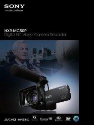 HXR-MC50P Digital HD Video Camera Recorder