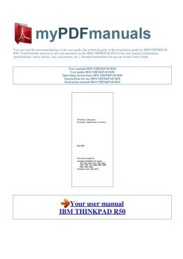 thinkpad rh yumpu com ibm thinkpad r50e service manual download ibm thinkpad r50e repair manual