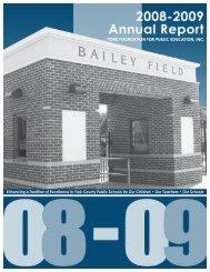2008-09 YFPE Annual Report - York County Schools