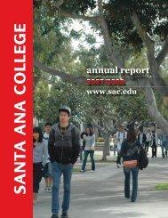 Annual Report 2007-2008 - Santa Ana College