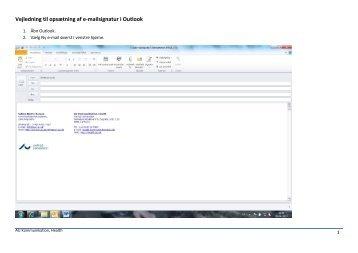 Vejledning til opsætning af e-mailsignatur i Outlook - Health