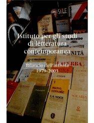 Istituto per gli studi di letteratura contemporanea - CIRCE