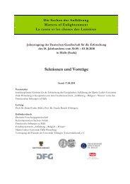 Sektionen und Vorträge - IZEA - Martin-Luther-Universität Halle ...