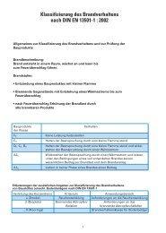 Klassifizierung des Brandverhaltens nach DIN EN ... - Chemotechnik