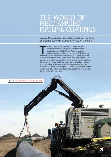 the world of field-‐applied pipeline coatings - Canusa-CPS