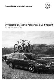 Oryginalne akcesoria Volkswagen Golf Variant Lista ... - besmarex.pl