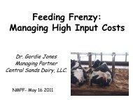 Dr. Gordie Jones - Central Sands Dairy, LLC