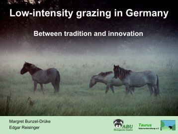 Low-intensity grazing in Germany - the European Forum on Nature ...