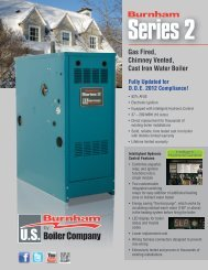 Gas Fired, Chimney Vented, Cast Iron Water Boiler - U.S. Boiler ...