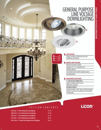 general purpose line voltage downlighting - LITON Lighting