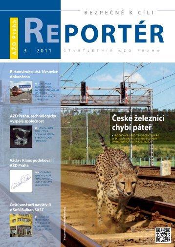 Reportér 2011/3 - AŽD Praha, sro