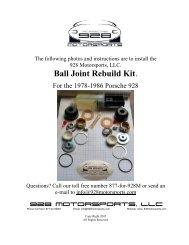 Ball Joint Repair - Porsche 928