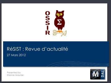 RéSIST : Revue d'actualité - OSSIR