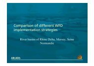 Comparison of different WFD implementation strategies - Urban Water