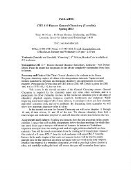 CHE 119 - Syracuse University Department of Chemistry