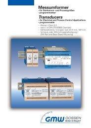 Messumformer mit galvanischer Trennung / Electrical Transducers