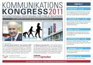 UNTERNEHMEN 2011 - Kommunikationskongress
