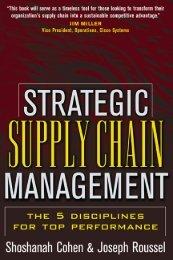 Strategic Supply Chain Management - Supply Chain Online