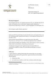 Revisorsrapport för kvalificerade revisorer - Ungdomsstyrelsen
