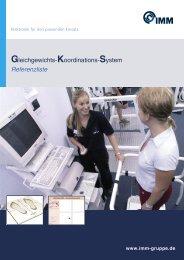 Gleichgewichts-Koordinations-System Referenzliste - IMM Gruppe
