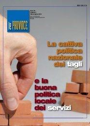 La rivista Upi Marzo Aprile 2013 - UPI - Unione delle Province d'Italia