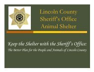 Lincoln County Animal Shelter Power Point (Sheriff)