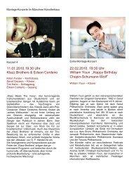 Montagskonzerte Frühjahr 2010 - Münchner Künstlerhaus