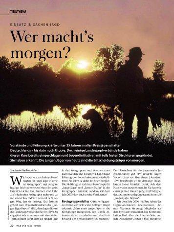 Ein Anblick den man nie vergisst. - Landesjagdverband Bayern