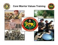 Core Warrior Values Training - U. S. Army Training Support Center