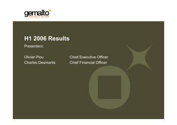 H1 2006 Results - Gemalto