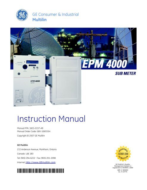 120 120//240 Single or 3-Phase #24 Electric kWh Meter up to 480 Volts